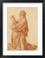 Framed Study of a Kneeling Man