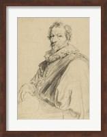 Framed Portrait of Hendrick van Balen
