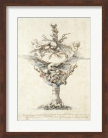Framed Design for a Ewer with Eagles and PuttI