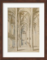 Framed Interior of a Gothic Church