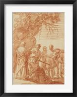 Framed Prophet Elisha and the Shunammite Woman