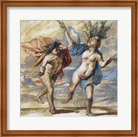 Framed Apollo and Daphne