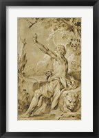 Framed Saint Jerome Hearing the Trumpet of the Last Judgement