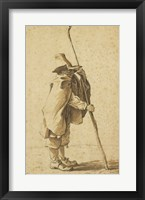 Framed Young Herdsman Leaning on His Houlette
