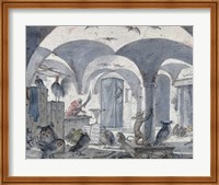 Framed Enchanted Cellar with Animals