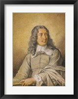 Framed Portrait of M. Quatrehomme du Lys