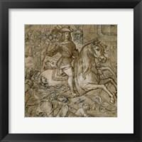 Framed Equestrian Portrait of Don Juan Jose of Austria