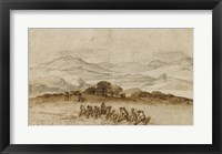 Framed Landscape in Latium with Farm Laborers