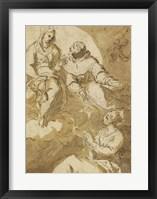 Framed Saint Francis Interceding with the Virgin on Behalf of a Female Saint