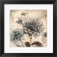 Framed Blue Botanical II - Mini