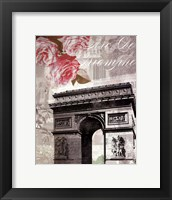 Framed Paris in Bloom II - Mini