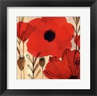 Framed Wild Poppies I - Mini
