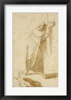 Framed Monk Carrying a Cross
