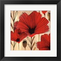 Framed Wild Poppies II - Mini