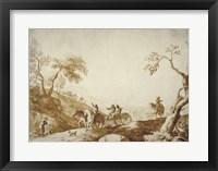 Framed Landscape with Travelers