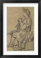Framed Study of a Seated Man