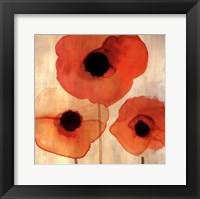 Framed Orange Poppies I -Mini