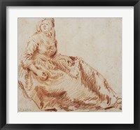 Framed Study of a Seated Woman