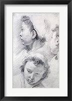Framed Three Studies of the Head of a Youth