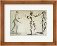 Framed Three Figure Studies