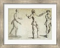 Framed Three Figure Studies