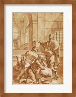 Framed Joseph Interpreting the Dreams of His Fellow Prisoners