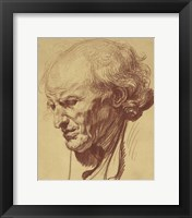 Framed Study of the Head of an Old Man