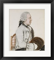 Framed Portrait of Charles-Benjamin de Langes