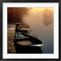 Framed Misty Boats