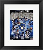 Framed Milwaukee Brewers All Time Greats