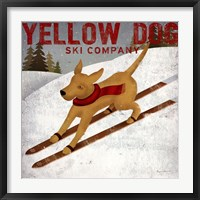 Framed Yellow Dog Ski Co