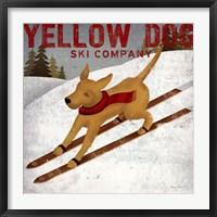 Framed Yellow Dog Ski Co
