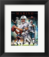 Framed Dan Marino 2013 Portrait Plus