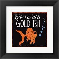 Blow a Kiss Goldfish Framed Print