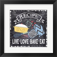 Recipe for Life Framed Print