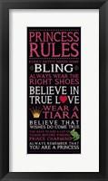 Framed Princess Rules - Black