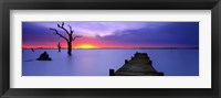 Framed Lake Charm Blue