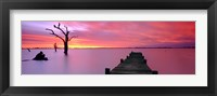Framed Lake Charm Red