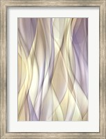 Framed Sheer Lilac And Creme