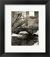 Gapstow Bridge NYC Framed Print