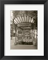 Framed Metropolitain (Paris) I