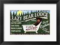 Framed Lazy Bear