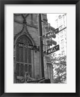 Framed Wall Street Signs