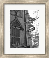 Framed Wall Street Signs