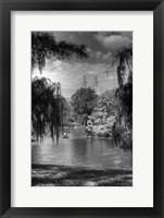 Framed Central Park Lake HDR 1