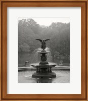 Framed Bathesda Fountain Small