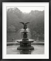 Framed Bathesda Fountain Small