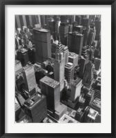 Framed Chrysler Building And Midtown Manhattan