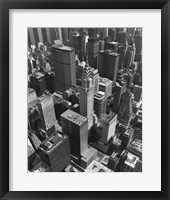 Chrysler Building And Midtown Manhattan Framed Print