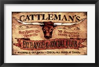 Framed Cattlemans